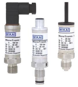sensor de presión absoluta / de membrana / analógico / con membrana aflorante