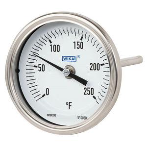 termómetro bimetálico / con aguja / de inserción / robusto