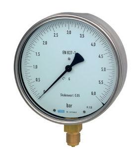 manómetro analógico / de tubo Bourdon / para gas / para líquido