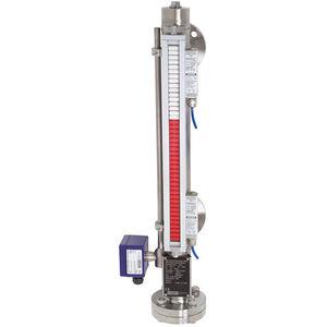 indicador de nivel de líquidos / de derivación / magnético / de brida