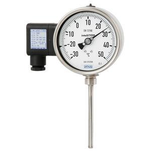 termómetro de expansión de gas / analógico / compacto / de acero inoxidable