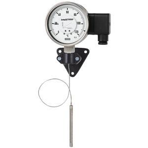 termómetro de expansión de gas de capilar / analógico / para montaje en superficie / de acero inoxidable