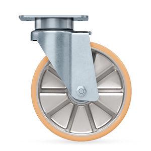 ruedecilla giratoria / con platino giratorio / para cargas pesadas / para paso