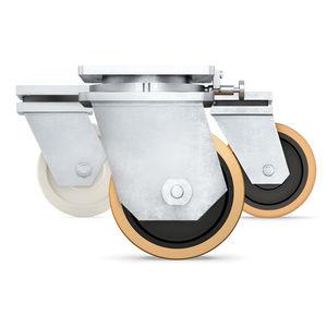 ruedecilla giratoria / con platino giratorio / monolítica / gemela