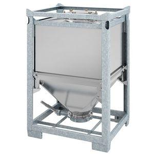 contenedor IBC de acero inoxidable / para productos a granel / para productos peligrosos / de almacenamiento