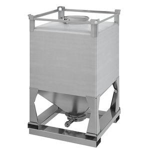 contenedor IBC de acero inoxidable / para productos a granel / de almacenamiento / de transporte