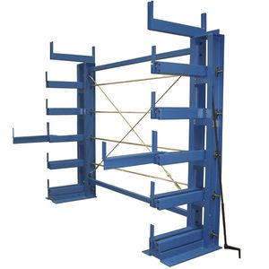 sistema de estanterías cantilever / para carga alargada / unilateral / compacto