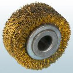 cepillo cilíndrico / de desbastado / de hilo metálico / con eje