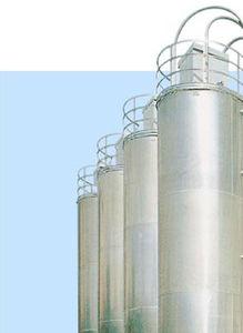 silo de fondo cónico / de acero inoxidable / de aluminio / para la industria