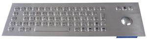 teclado empotrable / de tecla mecánica / 69 teclas / con trackball