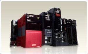 autómata programable PLC en riel DIN