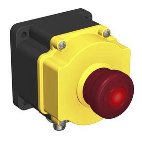 botón pulsador de parada de emergencia / táctil / al ras / con luz