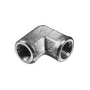 racor de rosca / de ángulo recto / hidráulico / de metal