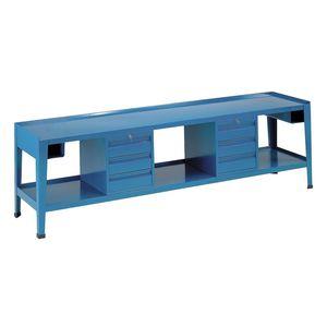 banco de trabajo de madera / monobloque / con 6 cajones / con compartimentos