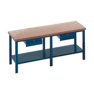 banco de trabajo de madera / monobloque / con 2 cajones
