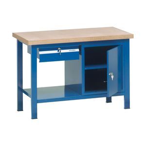 banco de trabajo de madera / monobloque / con cajones / con puerta