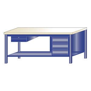 banco de trabajo de madera / monobloque / con 4 cajones / con compartimentos