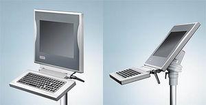 teclado empotrable / de tecla mecánica / sin puntero / de membrana