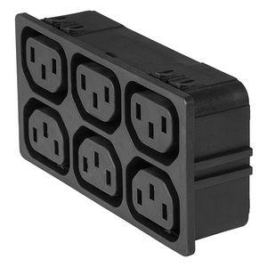conector eléctrico de alimentación eléctrica / tipo C13 / IEC / compacto