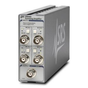 amplificador de tensión / de corriente / sumador / electrónico