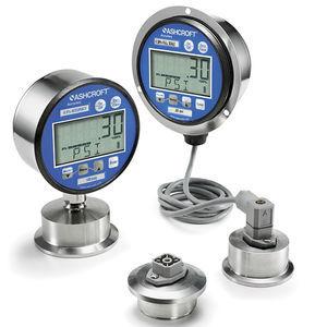 manómetro digital / electrónico / para aplicaciones higiénicas / para la industria agroalimentaria