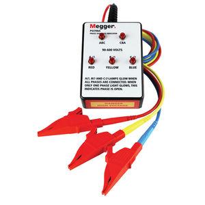 indicador de secuencia de fases / LED / de construcción ligera