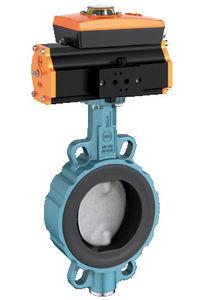 válvula de mariposa / con control neumático / wafer
