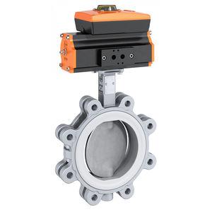 válvula de mariposa / con control neumático / tipo lug / de acero inoxidable