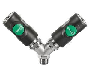 racor push-to-lock / en Y / neumático / de material compuesto