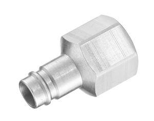 adaptador hidráulico / roscado / hembra-acanalado / de acero