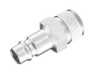 adaptador hidráulico / roscado / macho-acanalado / de acero