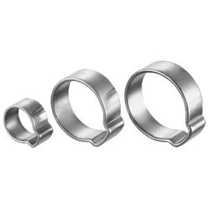 abrazadera de apriete de acero zincado / con orejas