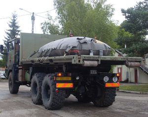 depósito de transporte / de líquidos / agua potable / de tejido