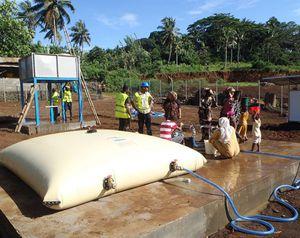 depósito de almacenamiento de agua potable