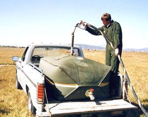 cuba de transporte / agua / para el riego / militar