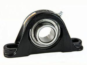 soporte con rodamiento empotrado / monobloque / con rodamiento de bolas / con bloqueo por pernos de fijación