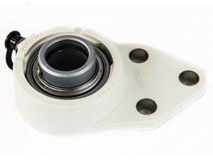 soporte con rodamiento empotrado / de brida / monobloque / de acero