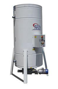 silo soldado / con fondo vibratorio / con agitador / de pesaje