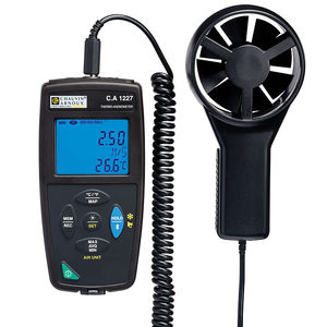 termo-anemómetro de hélice / portátil / de bolsillo / digital