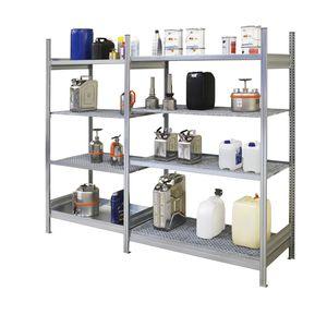 sistema de estanterías de taller / para carga mediana / para bidones con contenedor de retención / para botellas