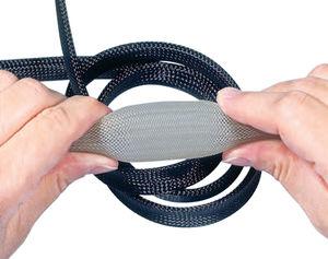 funda trenzada / para cables / para cables eléctricos / de PET