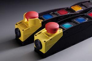 caja de botones de termoplástico / con 4 botones / con indicador LED