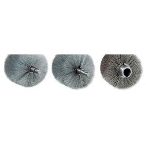 cepillo cilíndrico / cilíndrico espiral / de limpieza / metálico