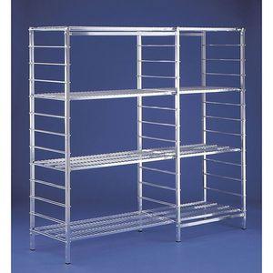 sistema de estanterías comercial / para carga ligera / con tablas / de acero inoxidable