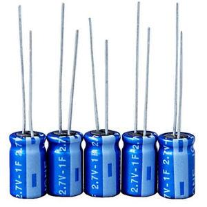 supercondensador cilíndrico / para circuito impreso / de reducida resistencia equivalente en serie / de alta temperatura