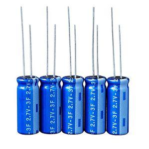 supercondensador cilíndrico / para circuito impreso / con terminales radiales / de reducida resistencia equivalente en serie