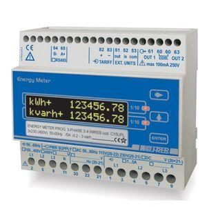 contador de energía eléctrica trifásico