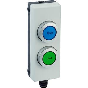 botón pulsador de rearme / con luz / IP65