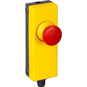 botón pulsador de seta / de parada de emergencia / de plástico / de rearme