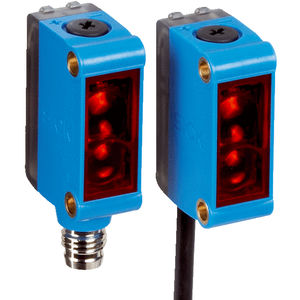 sensor fotoeléctrico retrorreflector / de tipo barrera / rectangular / infrarrojo